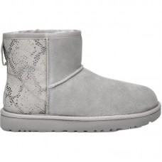 UGG Classic Mini Metallic Snake Silver - Winter Boots