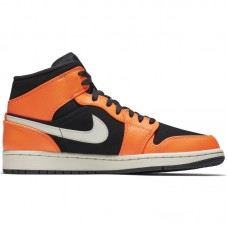Air Jordan 1 Mid Black Orange - Casual Shoes
