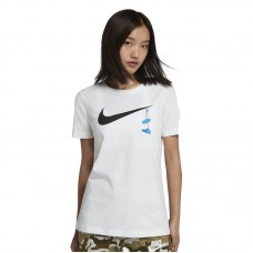 Nike Wmns Swoosh Shoes Embroidery Tee - T-Shirts
