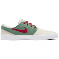 Nike SB Zoom Janoski Low Canvas RM Pale Ivory White Evergreen Atom Red - Casual Shoes