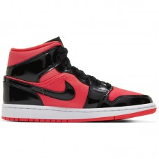 Air Jordan Wmns 1 Mid Hot Punch Black - Casual Shoes