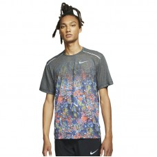 Nike Rise 365 Printed Running Top - T-Shirts