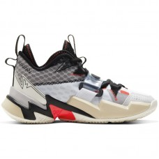 Air Jordan Why Not Zer0.3 GS Russell Westbrook White Bright Crimson Black - Basketball shoes