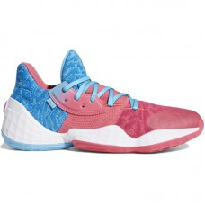 adidas Harden Vol.4 Bright Cyan Real Pink Cloud White - Basketball shoes